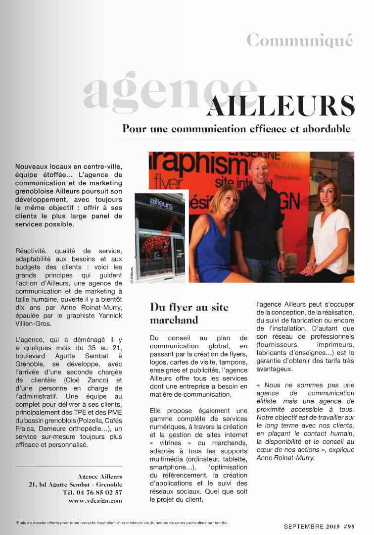Actualites Et News De Lagence Communication Ailleurs